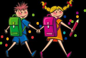 Kinderbücher - Junge und Mädchen halten Hände