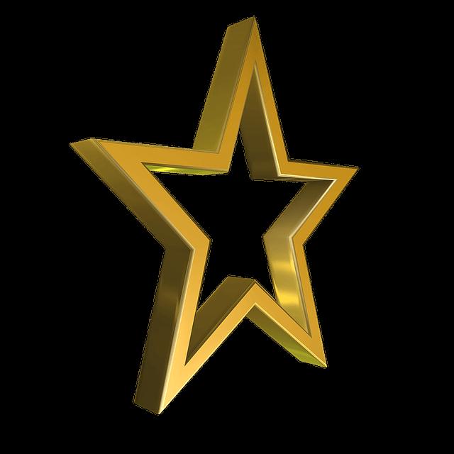 Goldener Stern als Symbol für Bücher online kaufen auf Büchervergleich.org